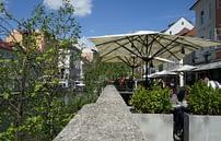 Ljubljana Cafe am Fluss
