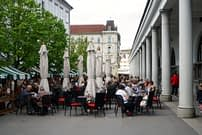 Ljubljana Cafés Innenstadt