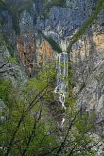 Soca Tal Boka Wasserfall oben