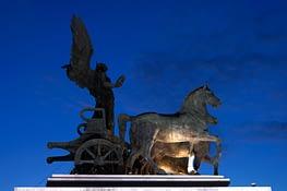 Rom Denkmal Pferde