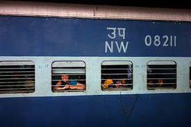 Indien Zug Franzi