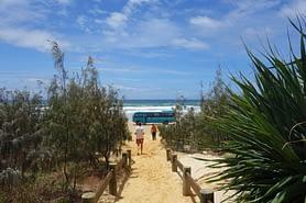 Fraser Island Sandweg Bus