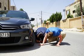Jordanien Transport Reifenpanne