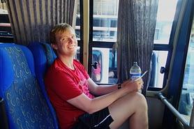 Kolumbien Reisetipps Transport Matthias im Bus