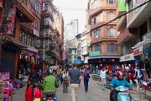 Kathmandu Wuselei Matthias