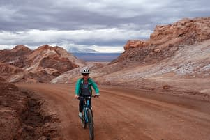 Atacamawüste Fahrrad Franzi