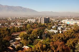 Santiago Blick auf Stadt und Berge