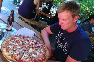 USA Reisetipps Essen Pizza Matthias