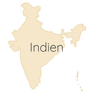 Indien Karte