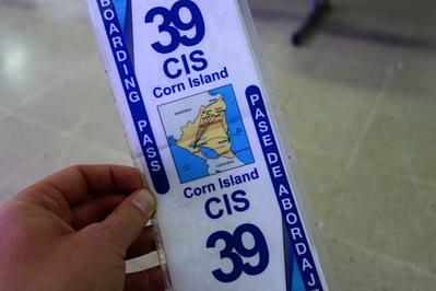 Little Corn Island Boarding Pass