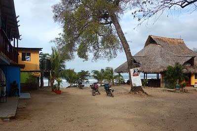 Playa Maderas Strand mit Hütten