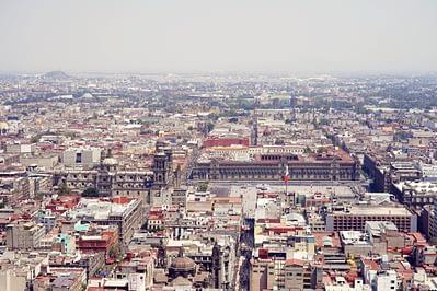 Mexico City von oben Zocalo