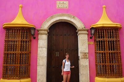 Cartagena pinkes Haus Franzi