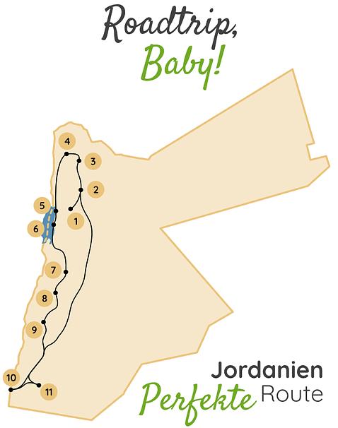 Jordanien Rundreise Karte