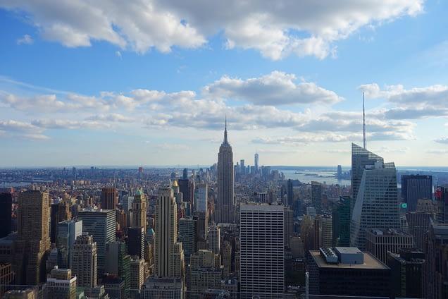 New York Blick Top of the Rocks