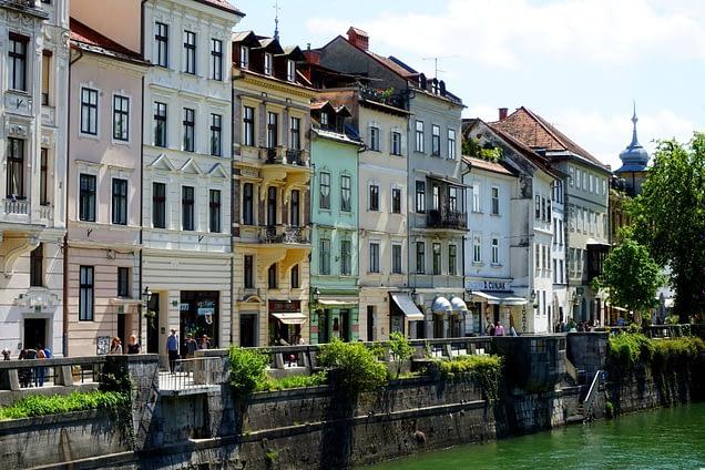 Ljubljana Häuserfassade