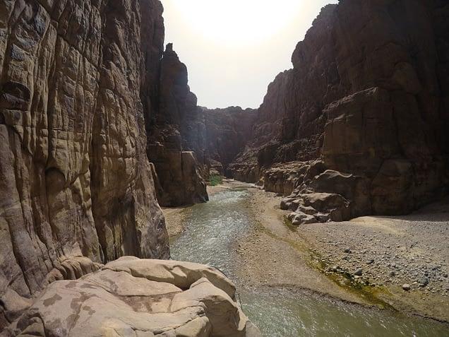 Wadi Mujib Beginn