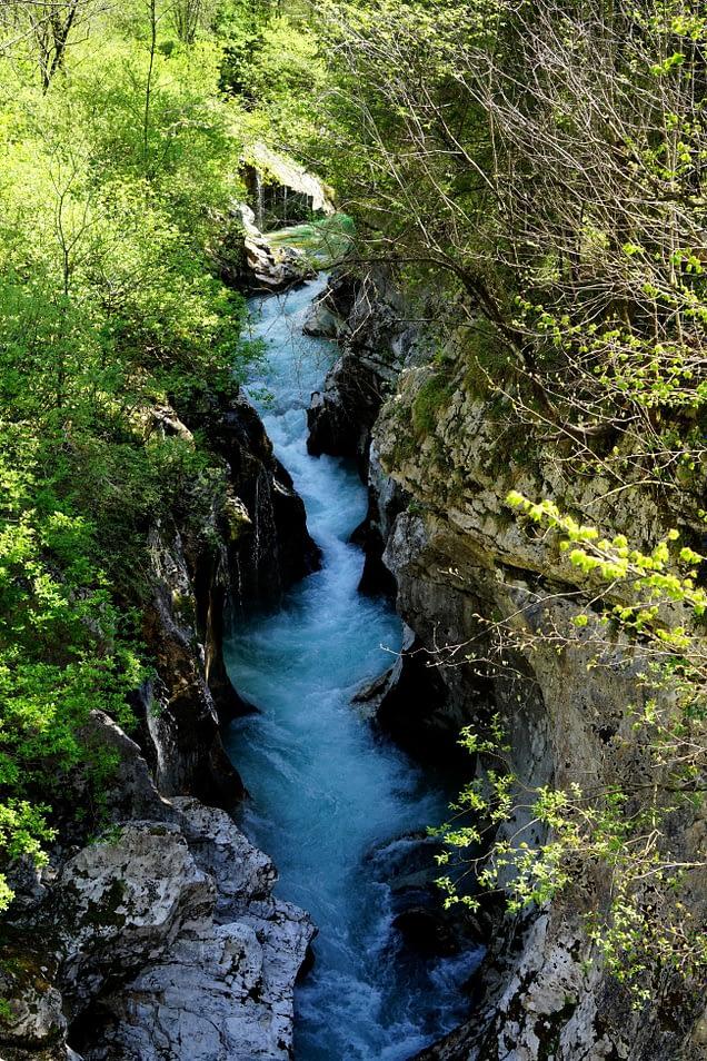 Soca Tal Fluss Strömung