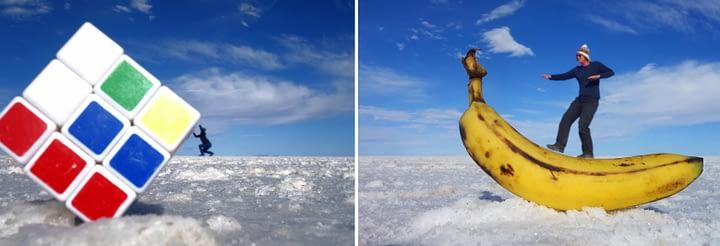 Salar de Uyuni Fotoeffekte Collage