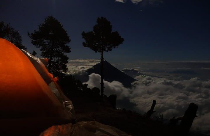 Antigua Vulkan Wanderung Nacht Zelt