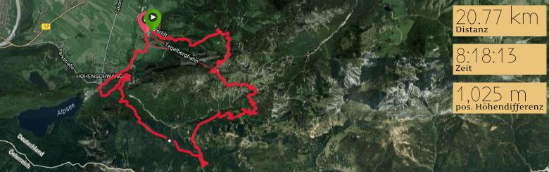 Testwanderung Karte