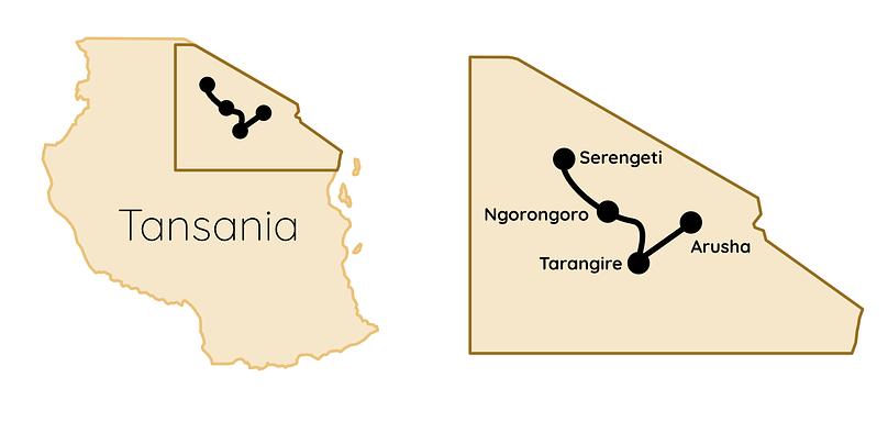 Safari Tansania Karte