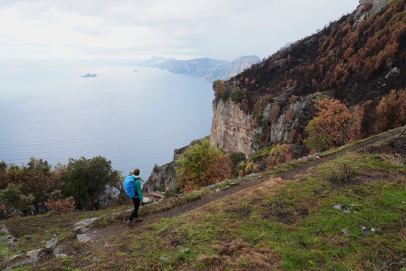Amalfiküste Sentiero degli Dei Franzi vor Panorama