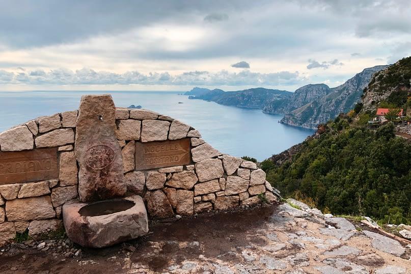 Amalfiküste Weg der Götter unten
