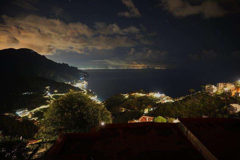 Ravello Apartment Blick Nacht