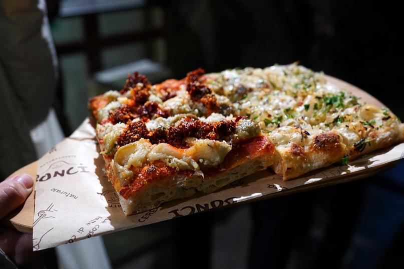 Rom Foodtour Pizzarium Pizzastücke