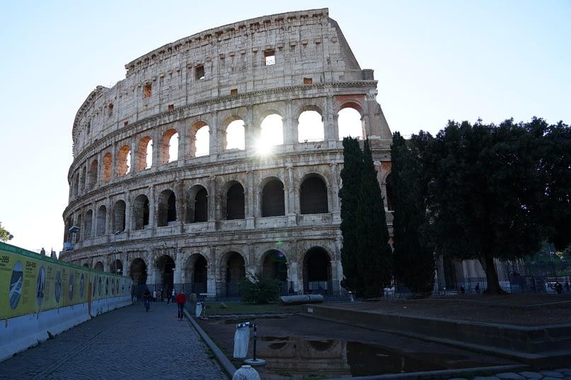 Rom Kolosseum Morgensonne
