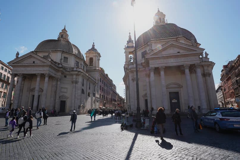 Rom Piazza Popolo Kirchen