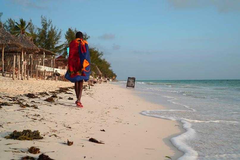 Paje Strand Einheimischer