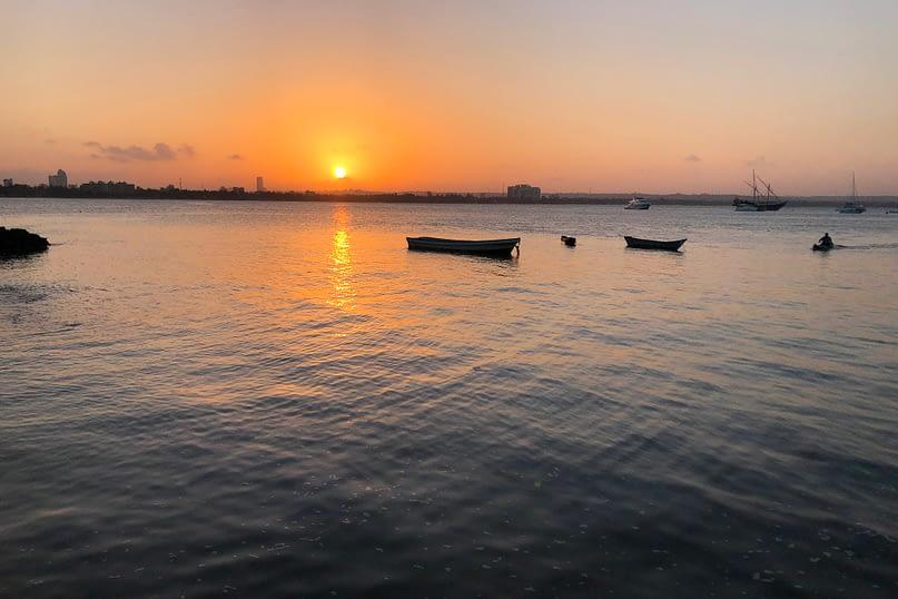 Sonnenuntergang beim Slipway