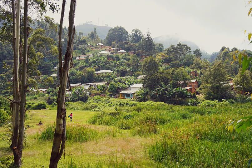 Lushoto Wanderung Dorf