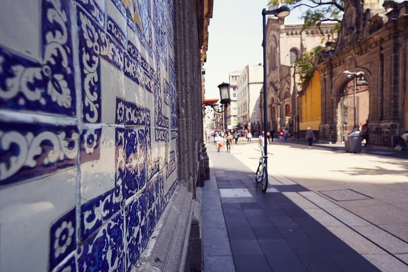 Mexico City Fußgängerzone House of Tiles