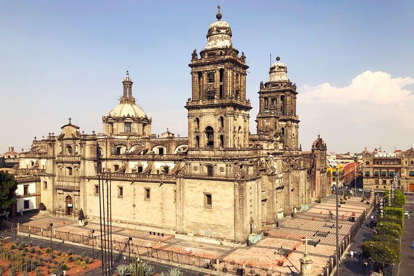 Mexico City Kathedrale von oben