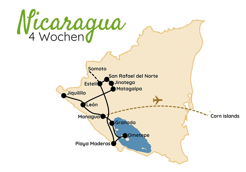 Nicaragua Route 4 Wochen