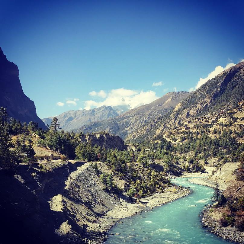Annapurna Circuit Pisang Fluss