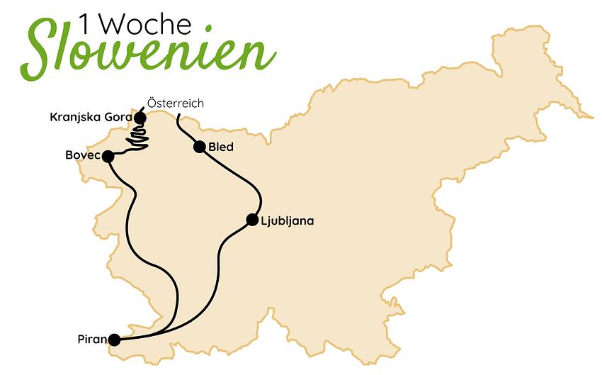 Slowenien Route