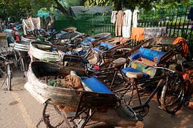 Indien Transport Rikscha