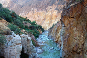 Colca Canyon Fluss