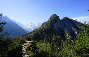 Kranjska Gora Wanderung Blick Matthias
