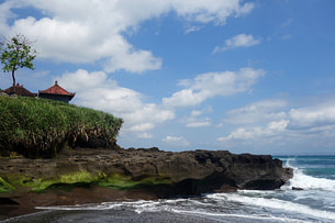 Bali Strand mit Tempel