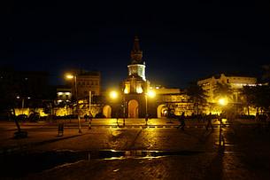 Cartagena Uhrenturm nachts