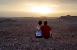 Dana Biosphere Sonnenuntergang Paar