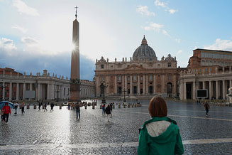 Rom Petersdom Platz Franzi