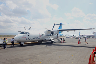 Nicaragua Route Flugzeug La Costena