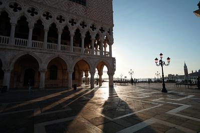 Venedig Dogenpalast Sonnenaufgang
