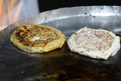 Sansibar Pizza in Pfanne